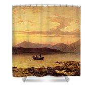 Loch Etive From Bonawe In The Evening Shower Curtain