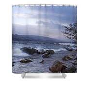 Loch Ness Shoreline At Dusk Shower Curtain