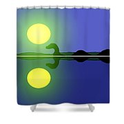 Loch Ness Sunrise Shower Curtain