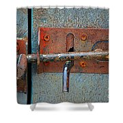 Lock And Latch Shower Curtain