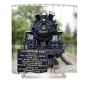 Locomotive 639 Type 2 8 2 Front View Shower Curtain