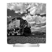 Locomotive To The Sky  Shower Curtain