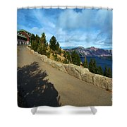 Lodge On The Crater Shower Curtain