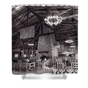 Lodge Starved Rock State Park Illinois Bw Shower Curtain