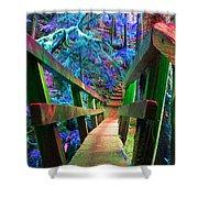 Log Bridges Shower Curtain