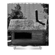 Log Cabin At Discovery Harbour Shower Curtain