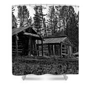 Log Cabins-faded Dreams Shower Curtain