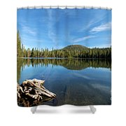 Log In The Lake Shower Curtain