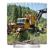 Logging Truck 2 - Burke Idaho Ghost Town Shower Curtain