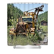 Logging Truck - Burke Idaho Ghost Town Shower Curtain
