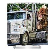 Logging Truck Shower Curtain