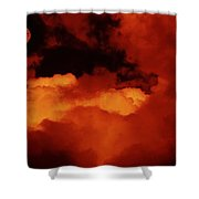Lomo Moon And Clouds Shower Curtain