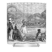 London: Archery, 1859 Shower Curtain
