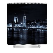 London At  Night View Shower Curtain