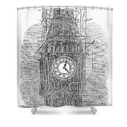 London: Big Ben, 1856 Shower Curtain