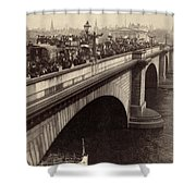 London Bridge - England - C 1896 Shower Curtain by International  Images