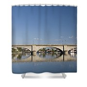 London Bridge And Reflection Shower Curtain
