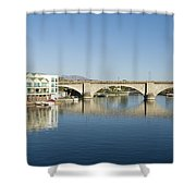 London Bridge And Reflection II Shower Curtain