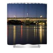 London Bridge At Dusk Shower Curtain
