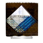 London Building Abstract Shower Curtain