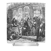 London: Christmas, 1866 Shower Curtain