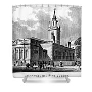 London: Church, C1830 Shower Curtain