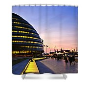 London City Hall At Night Shower Curtain