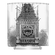 London: Clock Tower, 1856 Shower Curtain