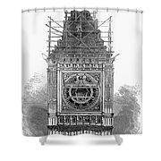 London: Clock Tower, 1856 Shower Curtain