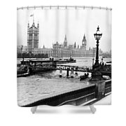 London England - House Of Parliament - C 1909 Shower Curtain