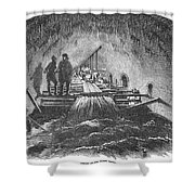 London: Fleet Street Sewer Shower Curtain