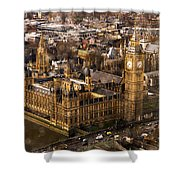 London From The London Eye Shower Curtain