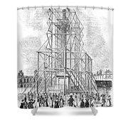 London: Nelson Column, 1845 Shower Curtain