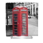 London Phone Box Shower Curtain