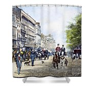 London: Piccadilly, 1895 Shower Curtain