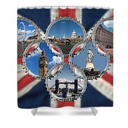 London Scenes Shower Curtain
