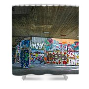 London Skatepark 3 Shower Curtain