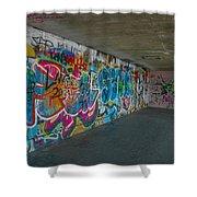 London Skatepark 5 Shower Curtain