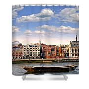London Skyline From Thames River Shower Curtain