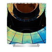 London Southbank Abstract View Shower Curtain
