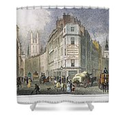 London: Street Scene, 1830 Shower Curtain
