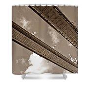 London Tower Brigde 6 Shower Curtain