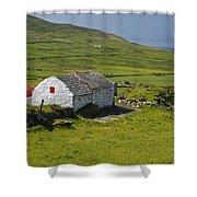 Lone Farmhouse On Mizen Head In West Shower Curtain