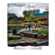 Lone Fisherman Shower Curtain