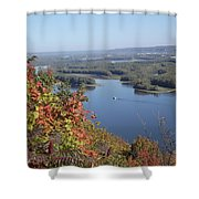 Lone River Boat Shower Curtain