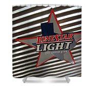 Lone Star Beer Light Shower Curtain