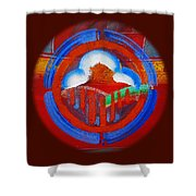Lone Star Red Shower Curtain