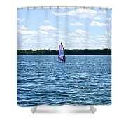 Lone Wind Surfer Shower Curtain