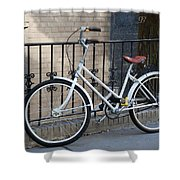 Lonely Bike Shower Curtain
