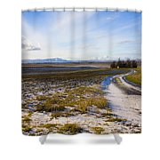 Lonely House On The Prairie Shower Curtain